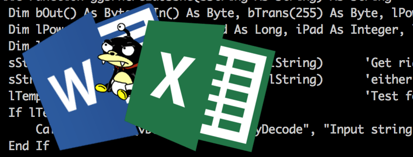 Ofuscación de malware en macros de MS Office